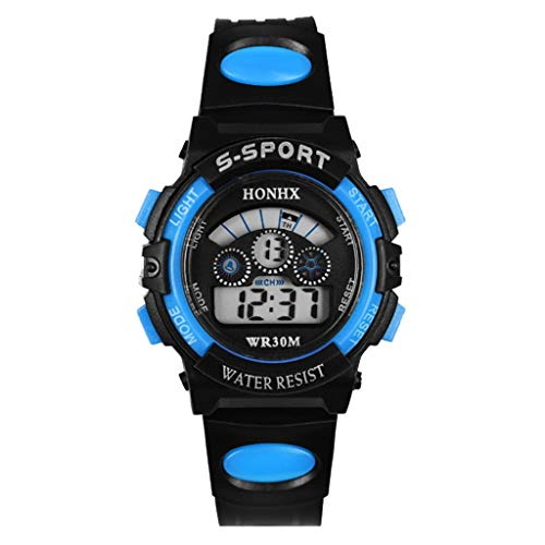 WUAI Men's Chronograph Waterproof Sport Watch Fashion Analog Digital Military Quartz Wristwatch