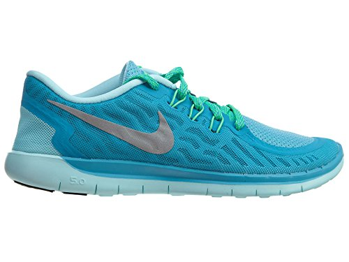 Nike Free 5.0 Unisex Kids Trainer Blue Lagoon/Midnight Navy/Copa/Metallic Silver sale find great clearance visit 100% original for sale explore cheap online MZS8VMpw