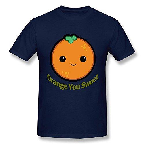 Kzsc55 Orange You Sweet Men's Unique T-Shirt Color Navy Size - Favor Coupon Warehouse