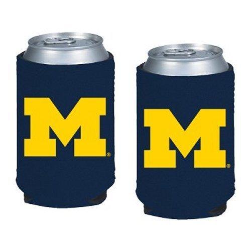 Michigan Wolverines Ncaa Collapsible - NCAA Michigan - Neoprene Pocket Coolies (2) | Michigan Wolverines Collapsible Beverage Insulators - Set of 2