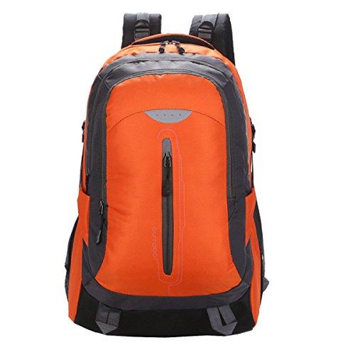 Yy.f Ligero Mochila Senderismo Mochila Ultra-resistente Ultraligero Viajes Al Aire Libre Acampar Montar La Mochila Bolso De Mano. Multicolor Orange