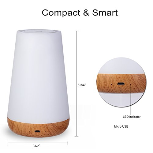 Kainuoa Touch Control Table Lamp, Led Smart With Bluetooth Speaker Control Night Light And Dimmable Color Control LED Light Bedside Lamp For Women, Teens, Kids, Children, Sleeping Aid by Kainuoa (Image #3)