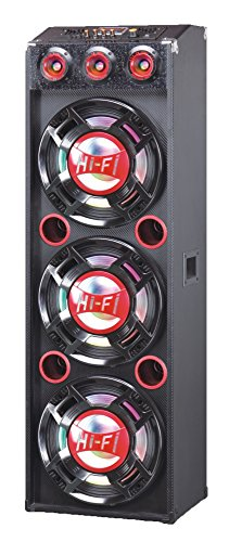 QFX SBX-412300-RD Bluetooth Speaker with Built-in Amplifier - Red