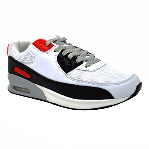 Taille Choc Rouge Bubble 12 Sport Nouveau Chaussures Gym Max Jogging 7 Entraneurs Fitness Blanc Mens Air Xelay De Absorbant PYZxU1qx
