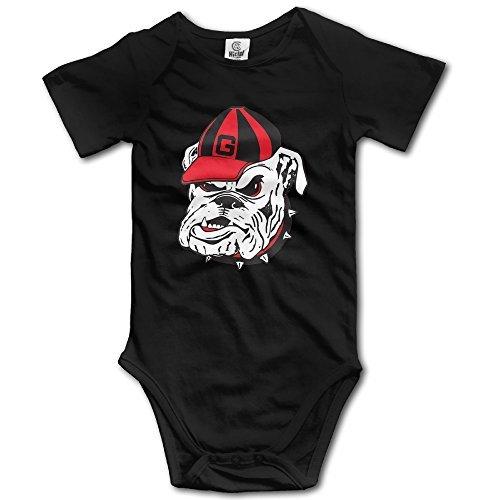 Unisex Baby Georgia Bulldogs Logo COOL Baby Onesies Short Sleeve Bodysuit