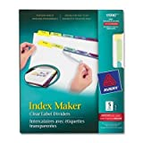 AVE11990 - Avery Index Maker Clear Label Contemporary Color Dividers