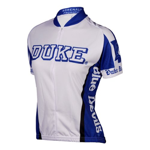 NCAA Duke Blue Devils Cycling Jersey, XX-Large, White/Blue