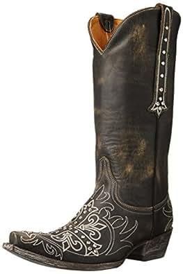 Old Gringo Women's Milagros Western Boot, Black/Beige, 6.5 B US