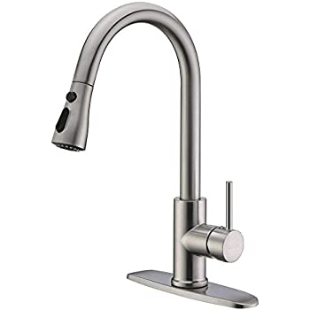 Neady Single Handle Kitchen Faucets With Pull Down Sprayer High Arch
