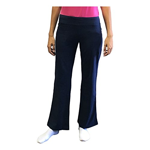 Danskin Now Plus Size Womens Dri More Bootcut Pants - Yoga, Fitness, Activewear (1X, Navy)