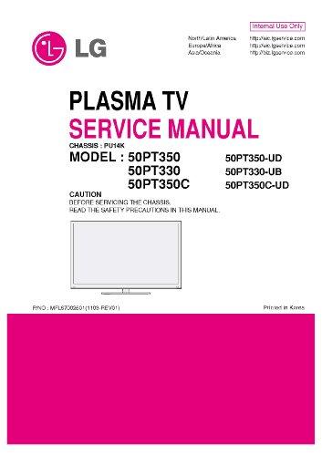 Plasma Tv Service Manual - LG PLASMA TV 50PT350  50PT330  50PT350C AND MORE MODELS  SERVICE MANUAL