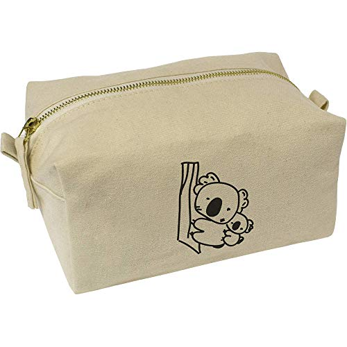 Azeeda 'Cuddly Koalas' Canvas Wash Bag / Makeup Case (CS00015520)