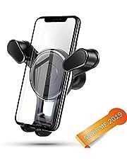 Meet me/Soporte móvil para Coche 360 Grados Rotación/Soporte GPS Coche/Sujetador de movil para Coche de Coche para iPhone x/8/7/6 Plus/6s/6/5s/SE, Android Smartphone (Negro)