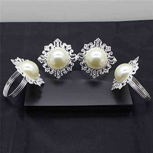 (Napkin Rings - 6pcs Pearl Napkin Rings Luxury Rhinestone Decorations Table Decoration - Turtle Colored Pine Horse Greek Aqua Orchid Rose Crystal Floral Names Christmas Different Plastic)