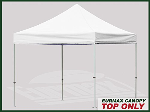 Eurmax 10x10 Replacement Pop Up Canopy Top Cover, White
