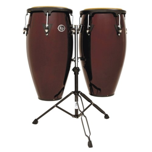 Latin Percussion LPA647-DW Conga Drum Dark Wood / Black