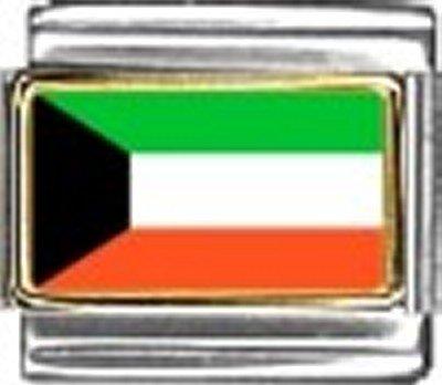 Kuwait Photo Flag Italian Charm Bracelet Jewelry Link - Italian Modular 9mm Photo Charm
