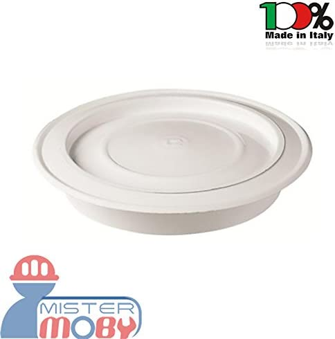 Mistermoby Rosone per Tubi Stufa in Acciaio Smaltato Porcellanato Diametro 15 Centimetri Colore Bianco Lucido