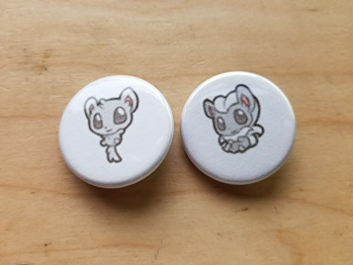5x Pokemon Collectible 1'' inch Buttons - Mincinno Cincinno Evolution Set - Custom Made - Pin Back - Gift Party Favor by Legacy Pin Collection