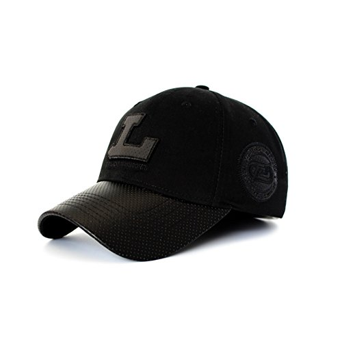 Spring and summer men's fashion baseball cap/Outdoor sports visor cap-black 60cm by Baseball Caps