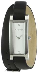 Pandora 811020LS - Reloj analógico de mujer de cuarzo con correa de piel negra