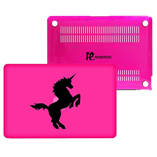 PhoneTatoos® -Unicorn Pink/ Transparent Plastic Hard Case Cover for Macbook Pro 13'' (Model: A1278) by PhoneTatoos