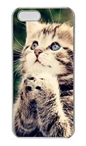 Baby Cat Looking Up Polycarbonate Plastic Hard Case for iPhone 5S and iPhone 5 Transparent