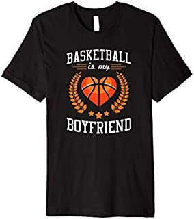 Cool Gift Basketball Is My Boyfriend Basketball Player Gift  Women Long Sleeve Funny Shirt / Navy / S - 5XL