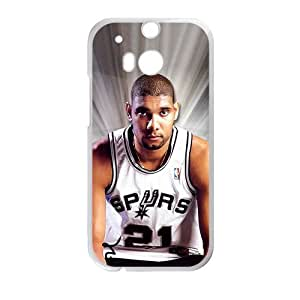 Happy Tim Duncan Cell Phone Case for HTC One M8