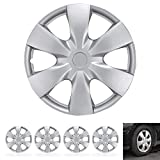 "BDK KT-1008-15 Guards - Hubcaps for Car Accessories Covers Snap Clip-On Auto Tire Rim Replacement for 15 inch Wheels 15"" Hub Cap (4 Pack)"