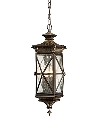 Minka-Lavery 9314-586 Rue Vieille Outdoor Pendants for Patios, 4-Light 160 Watts, Forged Bronze