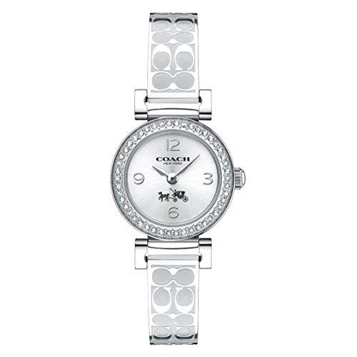 (Coach Women's 14502201 Madison Signature Silver Stainless Bangle Glitz Watch)