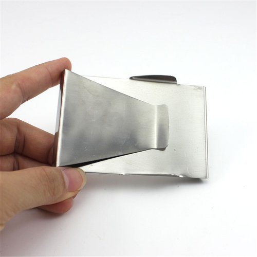 Stainless Double Credit Holder foreveryang