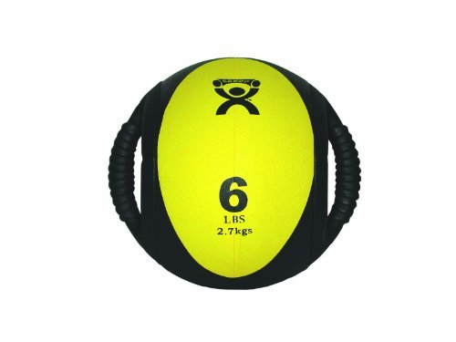 CanDo Dual Handle Medicine Ball, Yellow