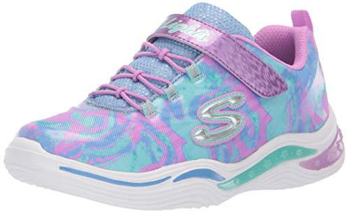Skechers Kids Girls' Power Petals-FLOWERSPARK Sneaker Lavender/Multi 3.5 Medium US Big Kid