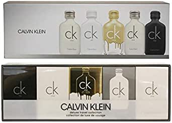 Calvin Klein (CA4AV) Deluxe Travel Collection Eau de Toilette Spray 5 Piece Gift Set for Men, Pack of 5
