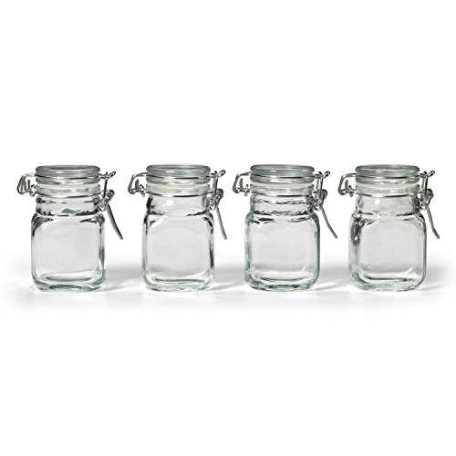 Stock Your Home 3 oz Glass Jar With Snap Lid 48 jars