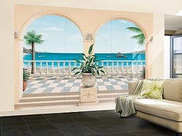 Lieblich Fototapete Motivtapete Bildtapete Wall Mural Terrasse Provencale 8 Teilig  Veranda / Garten Vor Meer Meerblick