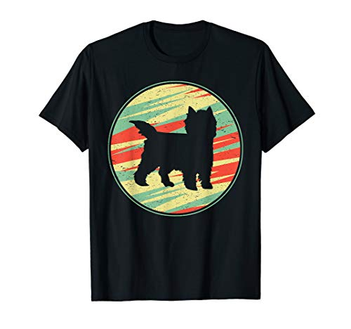 Cairn Terrier Retro Vintage Silhouette Cute Dog Gift T-Shirt