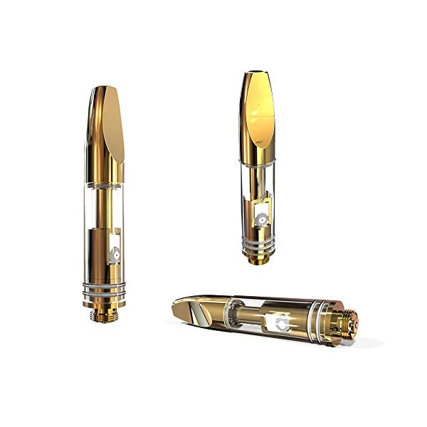 (Pack of 5) C8 Simply CBD Vape Cartridge Glass Refillable Atomizer (1.0ml)   510 Atomizer Ceramic Dual Coil Atomiser with Top Airflow Mouthpiece (510 Thread) for CBD and Thick Oil[No Nicotine]