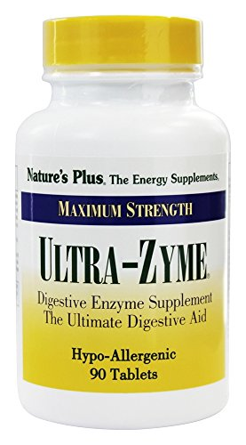 Natures Plus UltraZyme - 120 mg Ox Bile, 90 Tablets - Maximum Strength Digestive Enzyme Supplement, Anti Inflammatory, Weight Loss Support, Aids in Nutrient Absorption - 45 Servings
