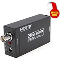 Kebidu Mini 3G HDMI to SDI Video Converter BNC SDI/HD-SDI/3G-SDI Adapter Support 1080P for Camera Home Theater Cinema PC HD