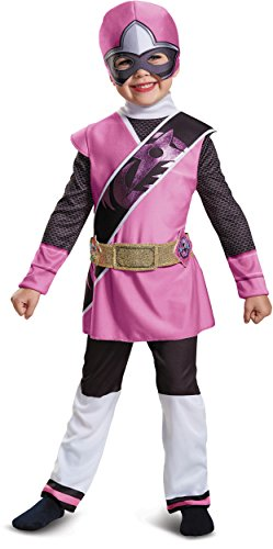 2t Pink Power Ranger Costume (Power Rangers Ninja Steel Deluxe Toddler Costume, Pink, Small (2T))