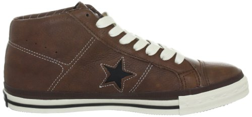 cc86689e66ea25 Converse One Star Mid Leather Pinecone Black Trainers Mens brown Size 339  EU 5.5 UK  Amazon.co.uk  Sports   Outdoors