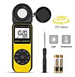 AP-881D Digital Light Meter LUX Meter Range Up to 400,000Lux,Handheld Digital Light Meter Ambient Temperature CE,ISO,ROHS,GMC Approved(Battery Included)