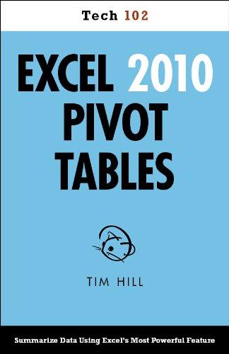 Excel 2010 Pivot Tables (Tech 102) Pdf