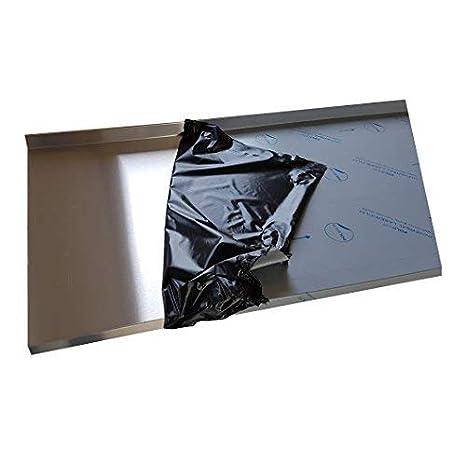 lang 600mm Edelstahl Abdeckplatte K240 Edelstahltisch Gastrotisch 0,8mm Abdeckung f/ür 55 cm K/üchenarbeitsplatte 4 cm stark 60 cm