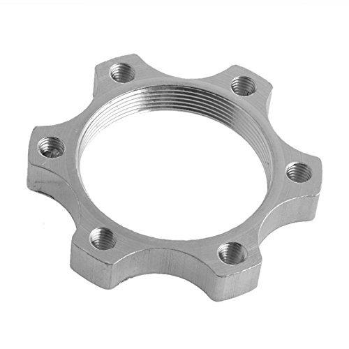 ADEDS 6 Bolt Bicycle Freewheel Threaded Hubs Disk Bike Disc Brake Rotor Flange Adapter (44mm) (Adaptor Rotor Disc)