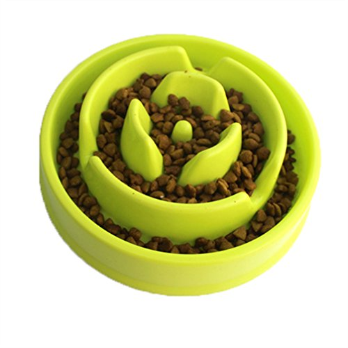 Pet Slow Feeder Interactive Fun Feed And Drink Water Bowl Heavy Duty Non-skid Anti-Choke Healthy Eating Diet Bloat Stop Dog Bowl Durable Non Toxic for Dog Cat Puppy Green -  BE GOOD