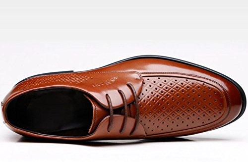 De De Negocios Zapatos Británicos Huecos Zapatos Verano Cuero De Casuales Zapatos Sandalias Respirables De Hombres De Marrón Los Vestir wFgRqY00Ix